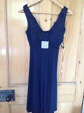 tk maxx blue cocktail evening dress size 8 new with tags
