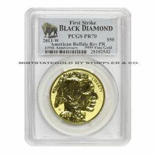 2013-W $50 Gold Buffalo PCGS PR70 Reverse Proof First Strike Black Diamond label