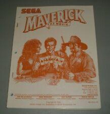 Sega Maverick Manual - Original