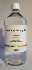 1000 ml (1 Liter) Oxalsäure Lösung 7%, Entrosten, Reinigen, Holzauffrischung