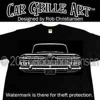 Car Grille Art™ T-Shirt, 1959 59 impala El Camino Biscayne belair Tee Shirt 348
