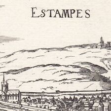 Gravure XVIIe Étampes Essonne Beauce Christophe Tassin 1634