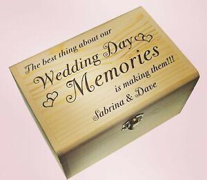 Personalised Wedding Day Memory Box Best Engagement Gift Keepsake For Newlyweds