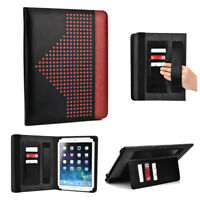 Universal Folio Tablet Case with Card and Hand Strap for 8 to 9.7 Inch Tablets