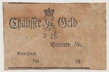 Sachsen 2 Pf. Chaussee Geld gebraucht 1800?