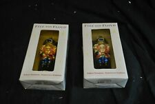 Fitz and Floyd Nutcracker Sweet Peppermint Ornament - Set of Two - A1