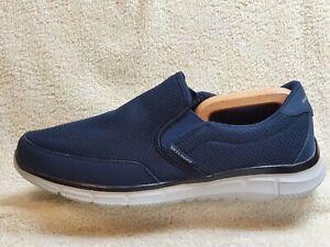 Skechers Memory Foam mens Comfort Slip On trainers Navy/White UK 10 EUR 45 US 11