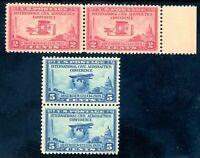 USAstamps Unused VF US Aeronautics Pairs Set Scott 649, 650 OG MNH