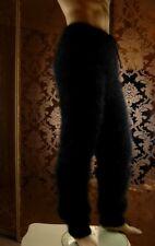 Mohair Handmade Thick Fluffy Black Men's Pants   size 32-34 ;  M Handknit