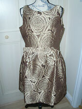 NEW QVC TAYLOR OCCASION Dress - Bronze Size 14/16