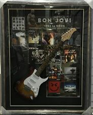 BON JOVI HAND SIGNED FRAMED FULL SIZE CUSTOM ELECTRIC GUITAR SAMBORA TORRES