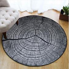 3D Anti-Slip Bath Mats Round Rug Growth Ring Pattern Bathroom Carpet Floor Mats