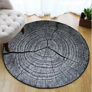 3D Anti-Slip Bath Mats Round Rug Growth Ring Pattern Bathroom Carpet Floor Mats