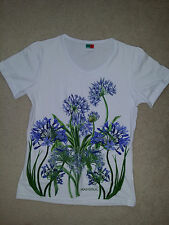 Madeira Paradise Womens Top Cotton/ Elastane White Floral from Portugal Sz. M