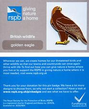 RSPB Pin Badge | Golden Eagle standing | GNaH backing card [00762]