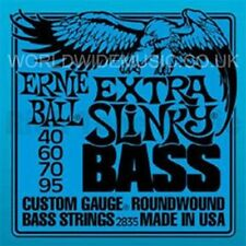 Ernie Ball Extra Slinky Nickel Roundwound Bass Guitar Strings - 40 60 70 95