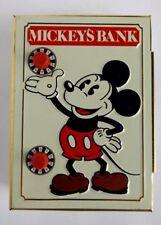 NOS 1978 DISNEYLAND MICKEYS BANK, TIN LITHO COMBO BANK W/ EMBOSSED CHARACTERS