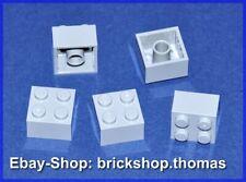 Lego 5 x Steine Bausteine grau 3003 Basic Brick 2x2 Light Bluish Gray NEU / NEW