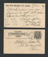 1879 WM SELLERS & CO PHILADELPHIA PA ADVERTISING US POSTAL CARD UX5