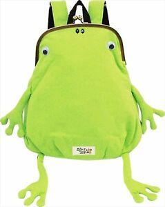 Gym Master Fluke Frog mini size clutch type backpack lime green G621354 cute!