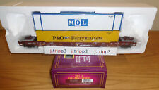MTH 20-95111 BNSF HUSKY STACK CAR TRAIN O SCALE INTERMODAL CONTAINERS P&O MOL