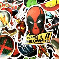 50 Pcs/Lot Stickers For MARVEL Super Hero DC For Car Laptop Notebook Decal hot