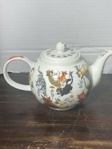 Dunoon Pussy Galore Large Teapot Cats Collectible Kitten Teapot