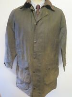 """Barbour A200 Border Waxed jacket - M 36"""" Euro 46 in Sage Green"""