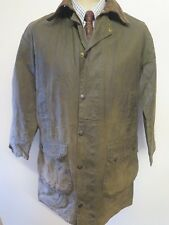 "Barbour A200 Border Waxed jacket - S 36"" Euro 46 in Sage Green"