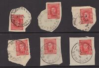 NSW postmark selection on KGV1 issues on piece x 6