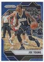 2016-17 Panini Prizm Basketball Blue Wave Prizm /99 #188 Joe Young Pacers