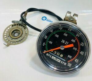 Vintage AMF Bicycle Speedometer/Odometer 50 mph