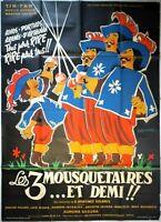 Plakat Kino Les 3 Musketiere Und Demi - 120 X 160 CM