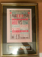 WWF Wrestlemania 29 Framed Memorabilia CM Punk V The Undertaker Wrestling Retro