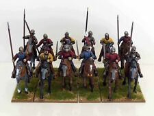 28mm War Of The Roses Light Cavalry - 12 Figures - Painted & Based