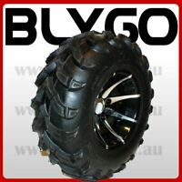 "25X10- 12"" inch Rear Back ALLOY Wheel Rim Tyre Tire Quad Dirt Bike ATV Buggy"