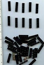 LEGO x 44 Black Plate 1 x 4 NEW