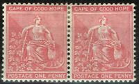 COGH 1882 1d Rose-Red SG41 Fine & Fresh Mtd Mint Pair