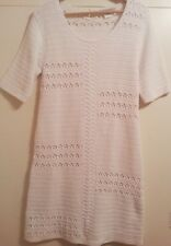 GERARD DAREL White 100% Cotton Crochet Front Lined Dress SIZE 3 or US SIZE 8/10