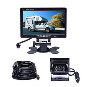 """Camecho Vehicle Backup Camera 7"""" TFT Monitor18 IR Night Vision Rear View Came..."""