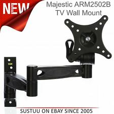 "Majestic ARM2502B Double Swing Arm Lock DEL TV Wall Mount Bracket│10"" to 22"" TVs"