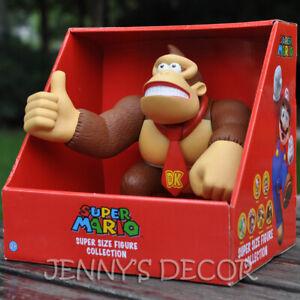 "Super Mario Brothers Toys 9"" Donkey Kong Action Figure Large"