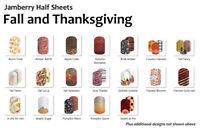 Jamberry FALL AUTUMN THANKSGIVING Nail Wraps ~ HALF SHEET, Free Shipping