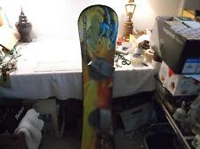 "ESP Freeride 130 Snow Board, Used, Nice Small,50"" x 9-11"" Green & Blue"