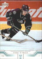 2001-02 Upper Deck Hockey Cards 1-249 (NO Young Guns) Pick From List
