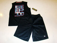 "Brothers By Justice Boys Black Epic  Game Shorts Old Navy ""Be Epic"" Shirt 6-7"