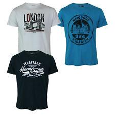 Maglia T-Shirt Uomo STORMY LIFE H1803 con Stampa Girocollo Blu, Azzurro, Bianco