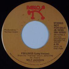 MILT JACKSON: Feelings (Long / Short) PABLO Jazz 45 Promo