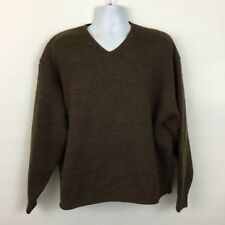 J. Crew wool sweater Mens XL brown knit chunky heavy X-Large