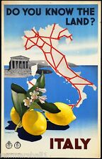 Do you know the land? Italy Vintage European Travel Advertisement Poster Print